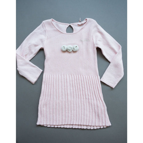 Silvian Heach - Baby Girls Knit Roses Dress, Pink