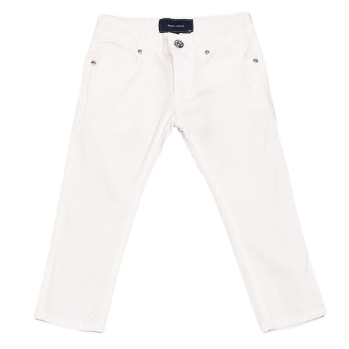 Silvian Heach Junior - Unisex Summer Light Cotton Casual Pants, White
