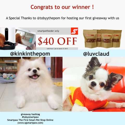 Winners For Giveaway  Smart Pet Feeder And dehydrated Treats