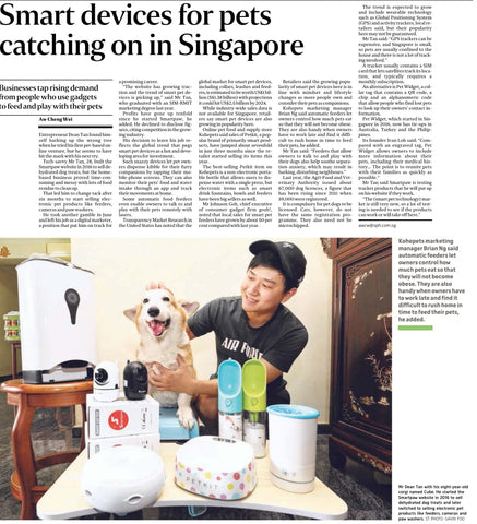 Singapore Straits Times Media Featured Smartpaw