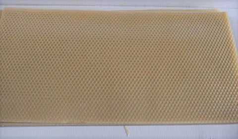 Foundation sheets -100% Pure Australian Bees Wax (Pack of 8)