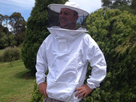 Beekeeping Jacket - Round Hat Style front zipper