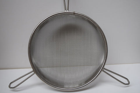 Honey Strainer Stainless Steel Single Medium - appx 24.5cm diameter