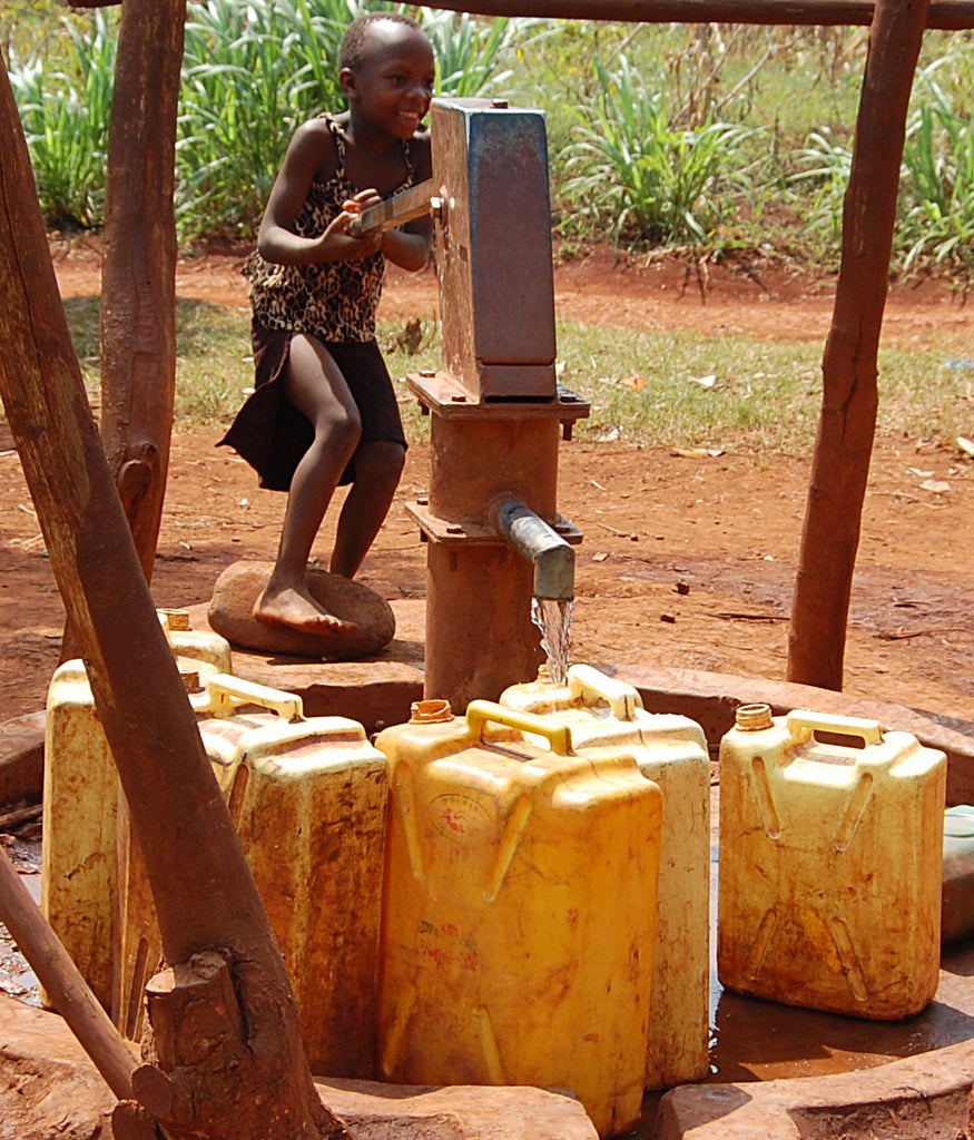 clean water well in Uganda
