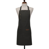 [35-18866] Canvas hanging neck adjustable 3 buckle apron/ 帆布挂頸可三扣調節通款圍裙