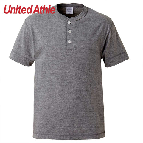 United Athle [5004-01] Adult Henry Collar Cotton T-shirt / 成人亨利領T恤