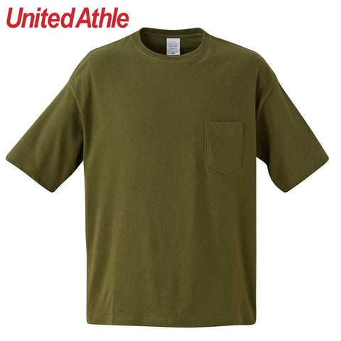 United Athle [5008-01] Adult Cotton Oversized Pocket T-shirt / 成人Oversized有袋棉T恤