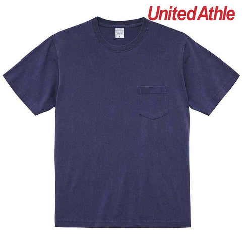 United Athle [5029-01] Pigment Dye Adult Cotton Pocket Tee / 圓領短袖有袋洗水T恤