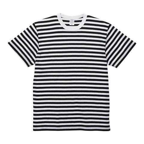 United Athle [5625-01] Adult Striped Cotton T-shirt / 成人橫條紋T恤