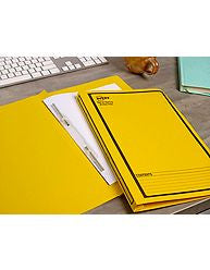 Avery Spring Action Files Black Printed on Yellow 85404
