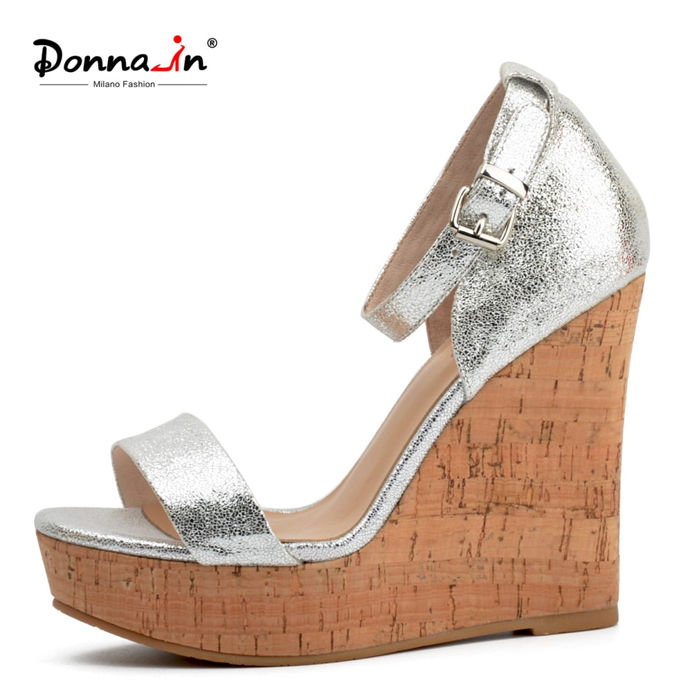 1332a5ace23a Genuine Leather Platform High Heels Wedge Sandals Open Toe - edeals123