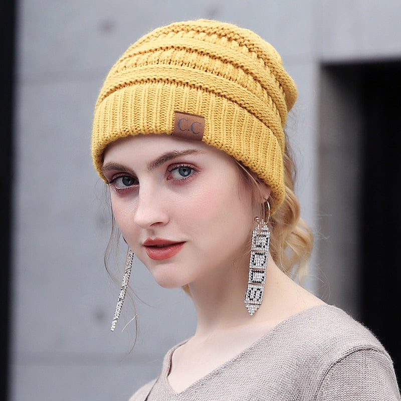 a794921eedb050 Soft Knit Ponytail Beanie - edeals123