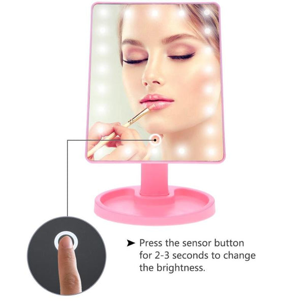 Led Touch Screen Makeup Professional Vanity Mirror With 16