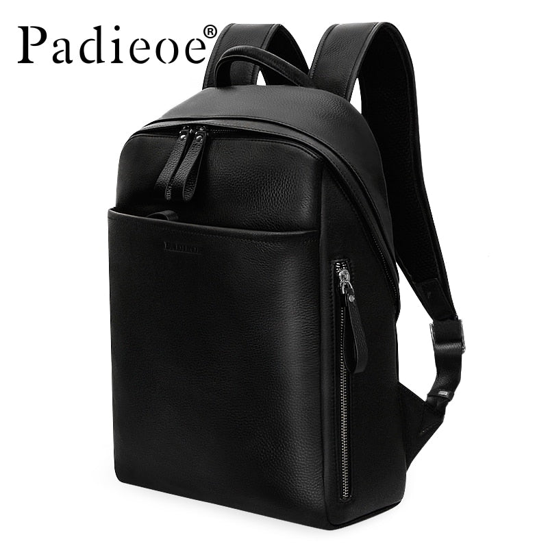 ... Genuine Leather Backpack For Man Real Cowhide Large Male Backpack  Double Zipper Travel Rucksack Classic Unisex ... e37883fbeef45