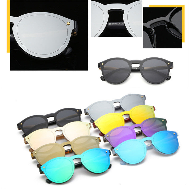 f1c6bf123 ZFYCOL 2017 New Fashion Rimless Vintage Round Mirror Sunglasses For Men  Women