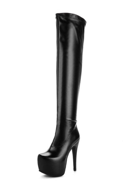 23965a2871f ... Designer Bar Over The Knee Boots New Arrival Women s Super High Heel  Shoes Autumn Stiletto Boots ...