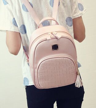 New Fashion Women Backpacks Women s PU Leather Backpacks Girl School Bag  High Quality Ladies Bags Designer ... bd97897865ebf