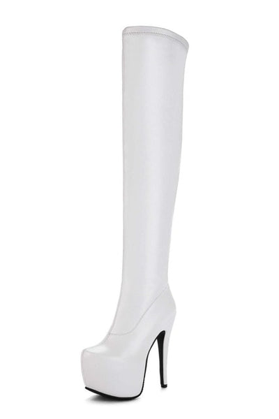 a58190bf9ec Designer Bar Over The Knee Boots New Arrival Women s Super High Heel Shoes  Autumn Stiletto Boots ...