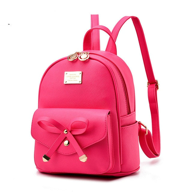 0a9a5b8254eb Fashion women mini Backpacks ladies small Leather Backpack school bags  teenager girls vintage female travel Backpacks ...