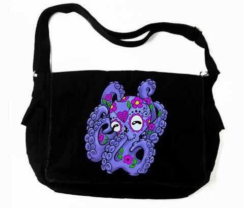 Sugar Skull Octopus Messenger Bag