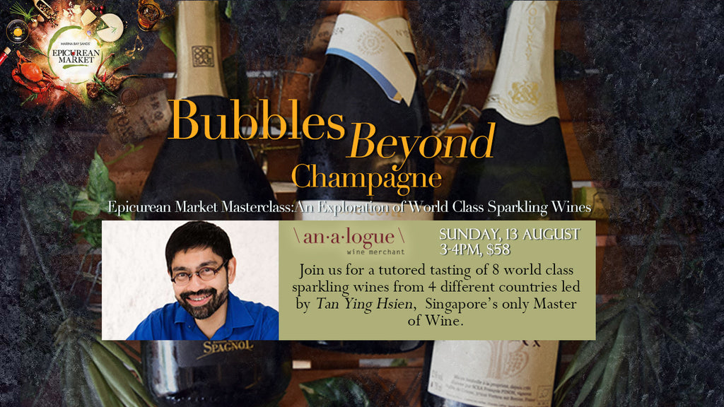Bubbles Beyond Champagne - A Masterclass by SG's only MW!