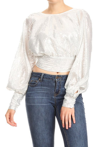 FIND ME TONIGHT SEQUIN TOP