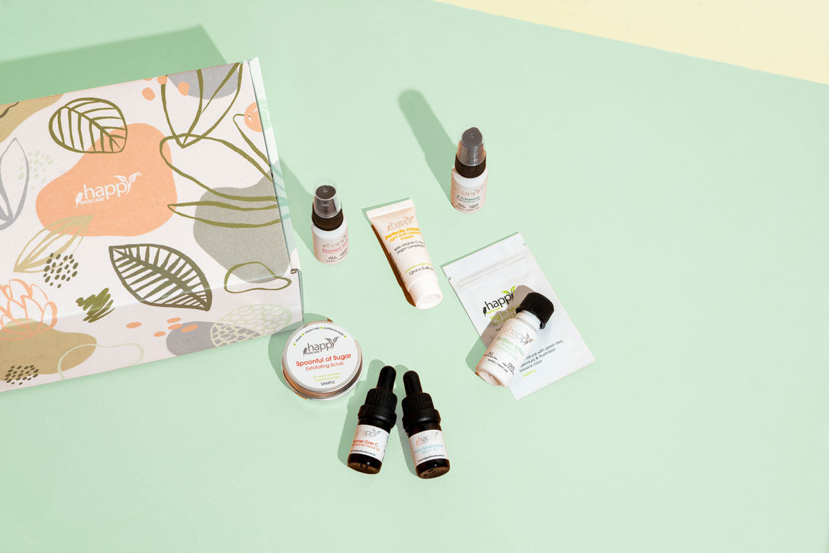 How to use the Happy Skincare Favourites Set (for oily/combination skin)