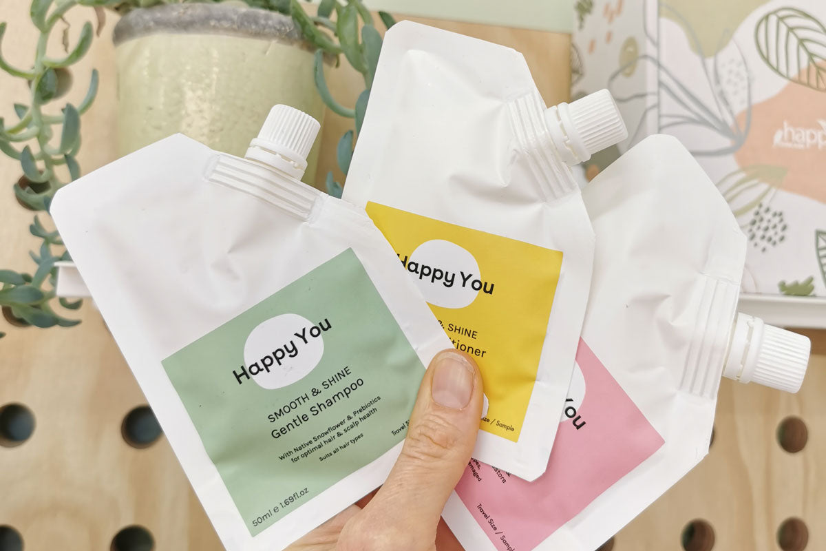 How to use your Happy You Hair Sample Pack