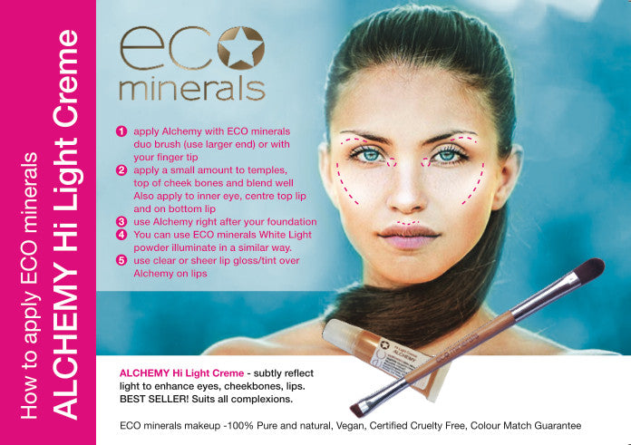 ECO Minerals Alchemy Hi-Light Creme Directions