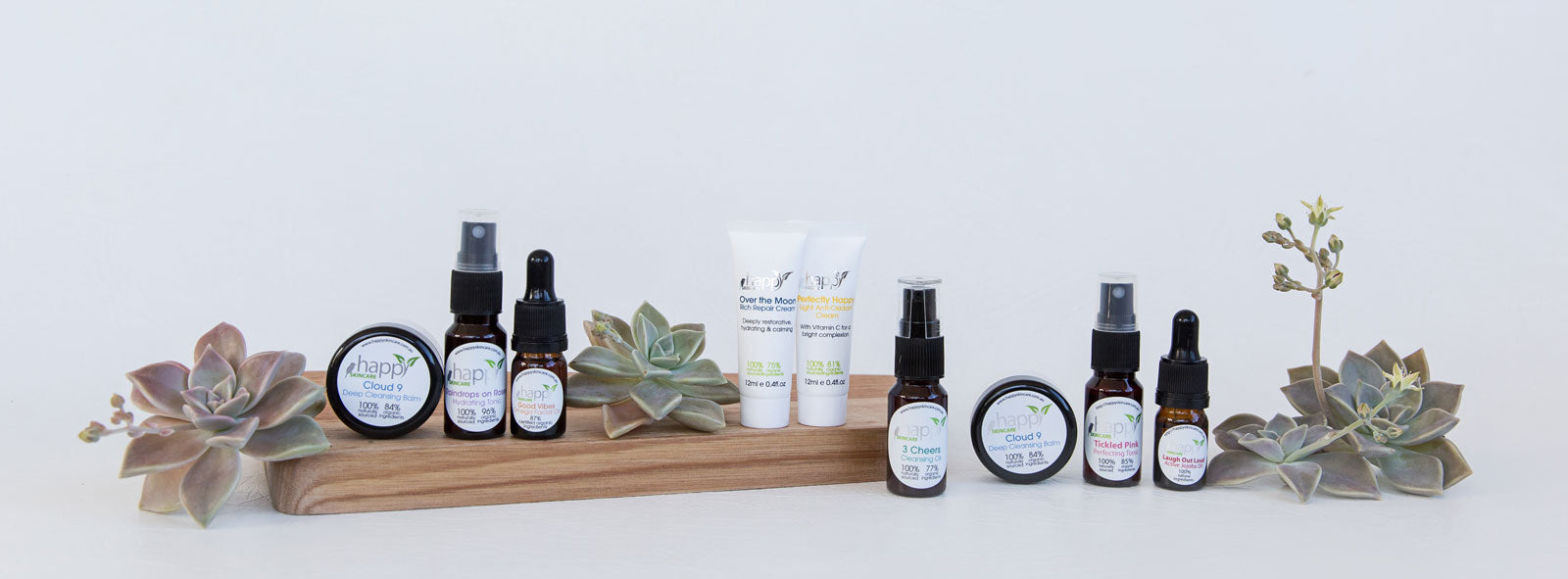 The Happy Skincare super-sized sample pack in all its glory