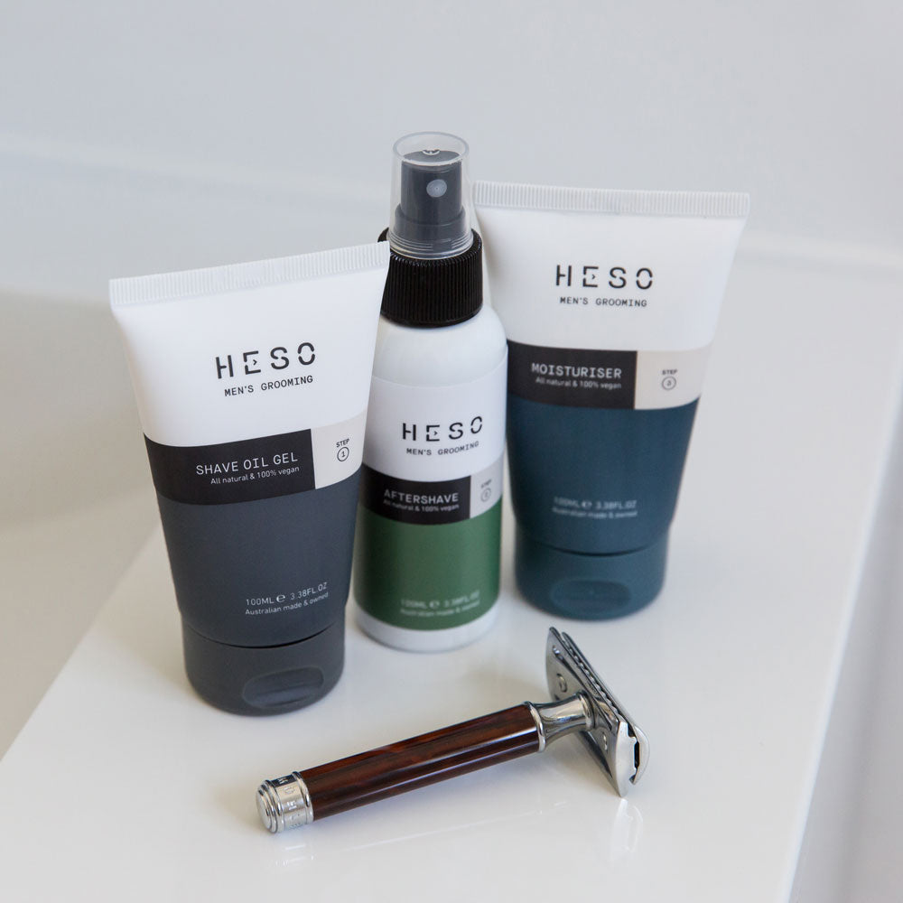 HESO Men's Grooming 3 Step Shave Set