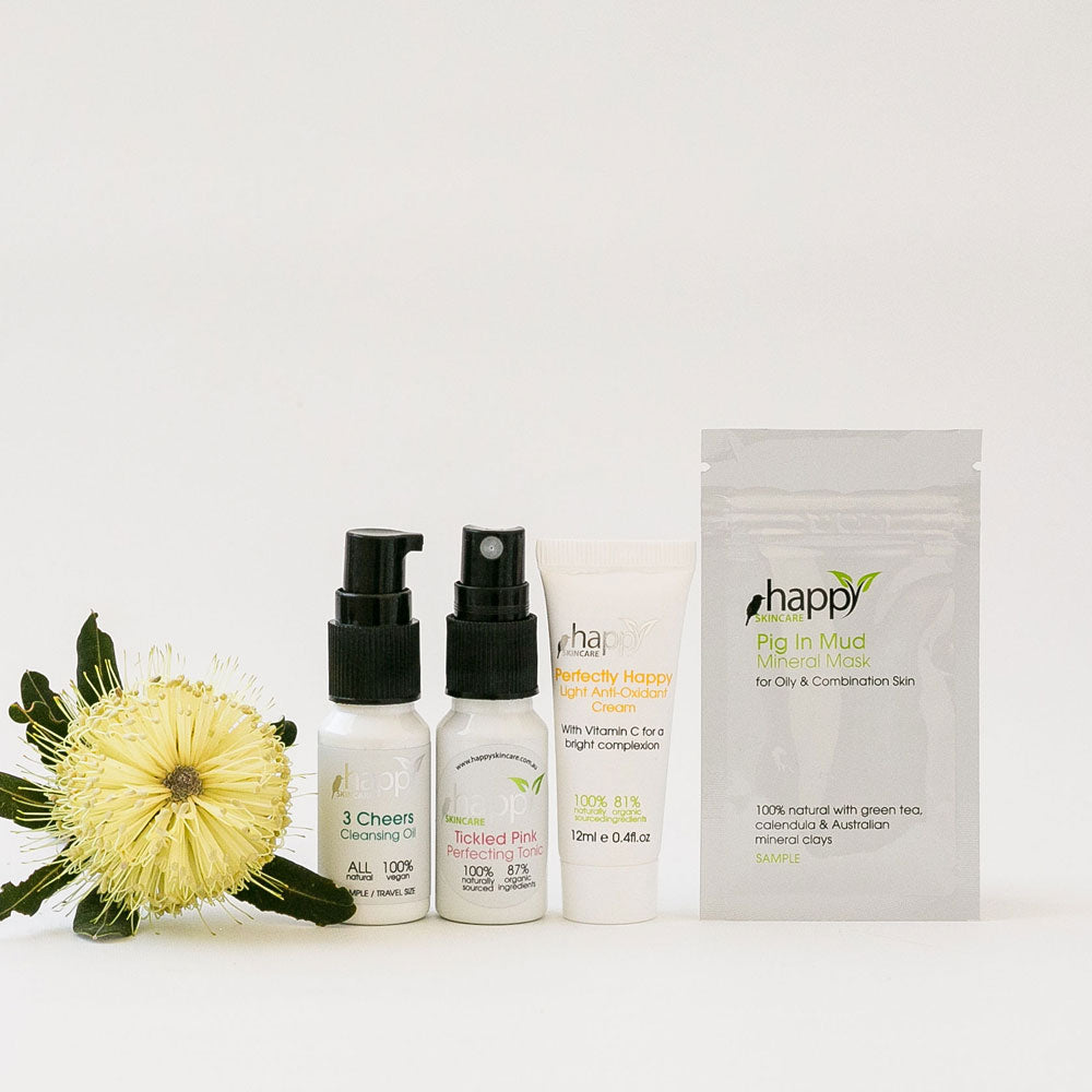 'Clearing' Sample Pack (for Oily Skin, Adult Acne & Teens)