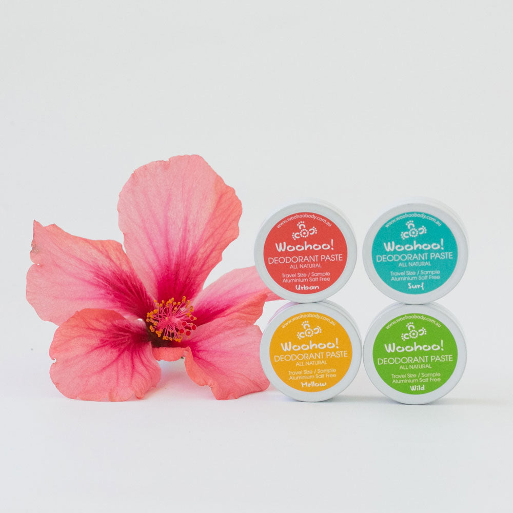 Woohoo! All Natural Deodorant Paste Sample Pack