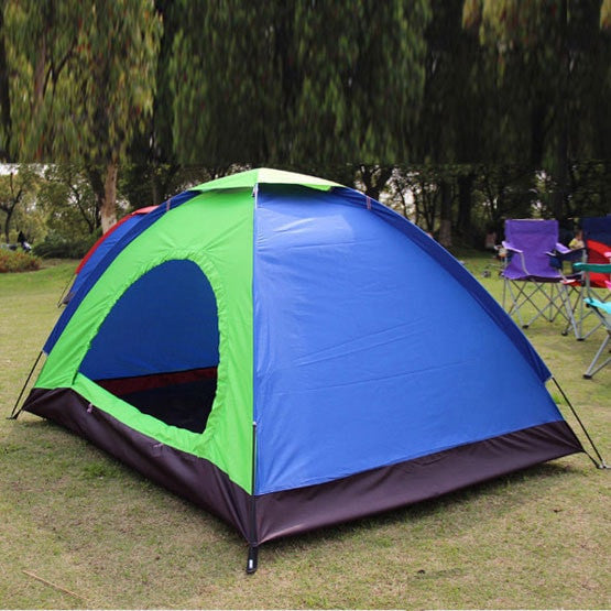 2 Person Hiking C&ing Tent (1 Door) / Portable Outdoor Folding Tent (#STR-OST-CPT5001) : dome shaped tent - memphite.com