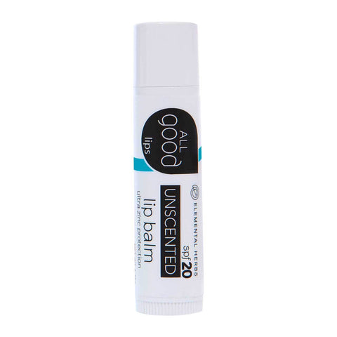All Good Lip Balm SPF 20 Unscented - life by U