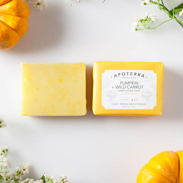 Apoterra-Pumpkin and Wild Carrot Complexion Soap 3