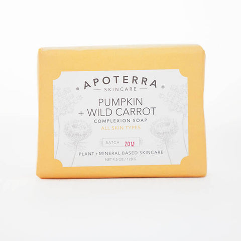 Apoterra-Pumpkin and Wild Carrot Complexion Soap