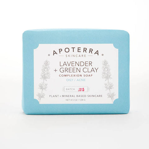 Apoterra-Lavender and Green Clay Complexion Soap
