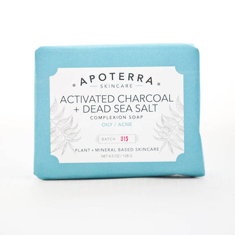 Apoterra-Activated Charcoal and Dead Sea Salt Complexion Soap
