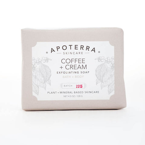 Apoterra-Coffee and Cream Exfoliating Soap