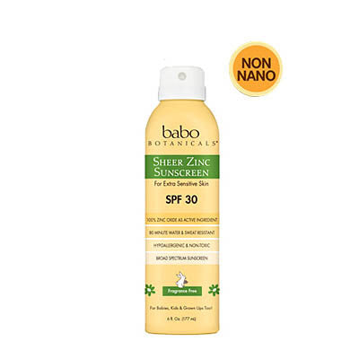 Babo Botanicals- Sheer Zinc Continuous Spray Sunscreen SPF 30 - life by U