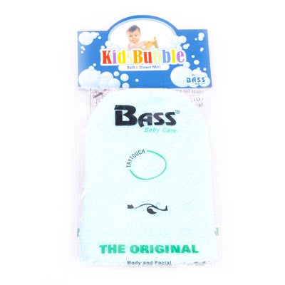 Bass-100% Cotton Baby Cleansing Mitt - Teal