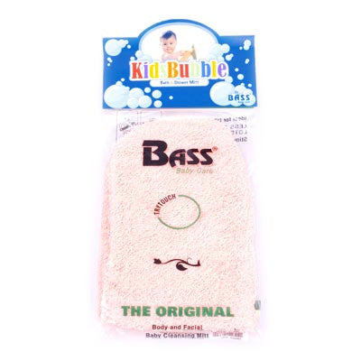 Bass-100% Cotton Baby Cleansing Mitt - Red - life by U
