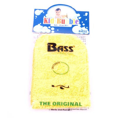 Bass-100% Cotton Baby Cleansing Mitt - Yellow