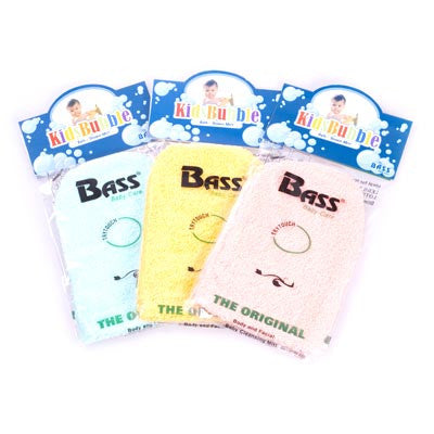 Bass-100% Cotton Baby Cleansing Mitt - Red