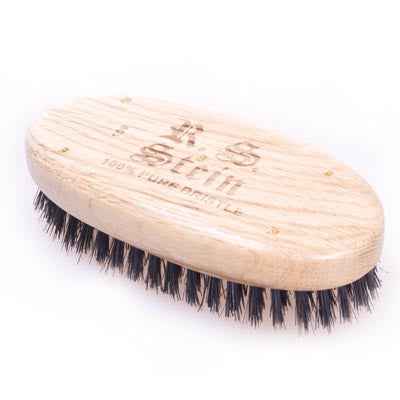 Bass-Military Style Beard Brush Firm - life by U