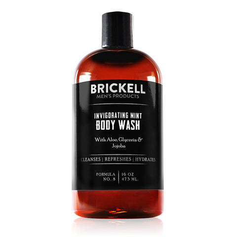 Brickell-Invigorating Mint Body Wash For Men - life by U