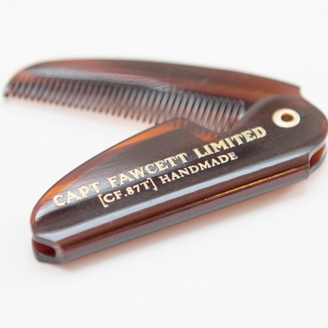 Captain Fawcett-Folding Pocket Mustache Comb CF.87T - life by U