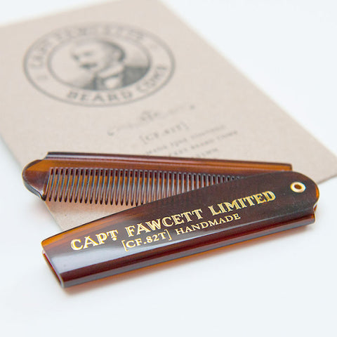 Captain Fawcett-Folding Pocket Beard/Hair Comb CF.82T - life by U