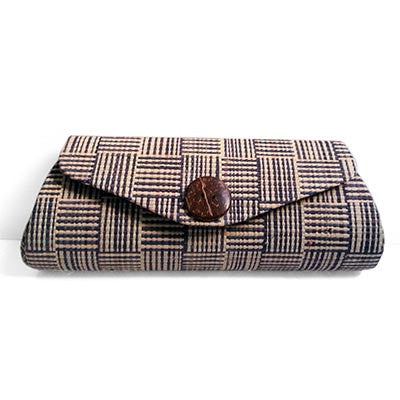 Dsenyo Chica Mini Clutch - Gray Blue Plaid